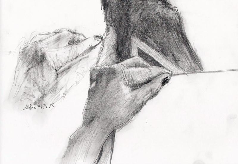 Venstrehåndsarbeid fra Kristin Biesse Bruun