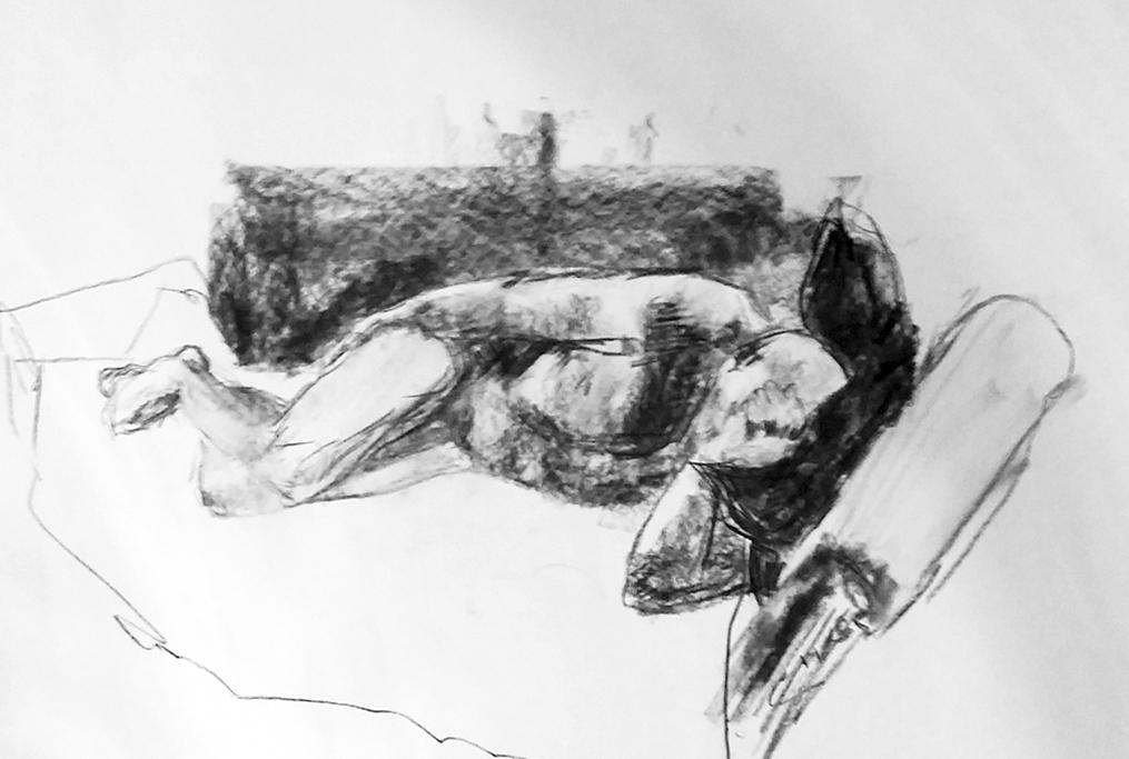 Mannlig modell (Kristin B. Bruun)