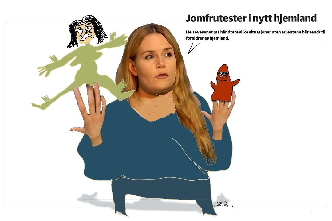 """Linda Noor: jomfrutesting i Norge, ikke """"hjemme""""! Kristin B. Bruun"""
