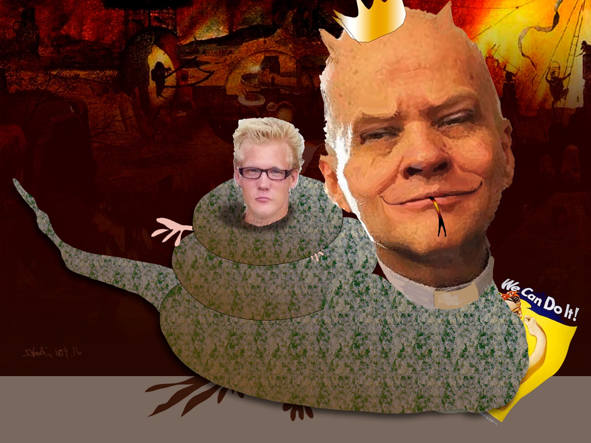Pastor Jan-Åge Torp har et - grep om de fleste, og han slipper ikke taket. Illustrasjon: Kristin B. Bruun