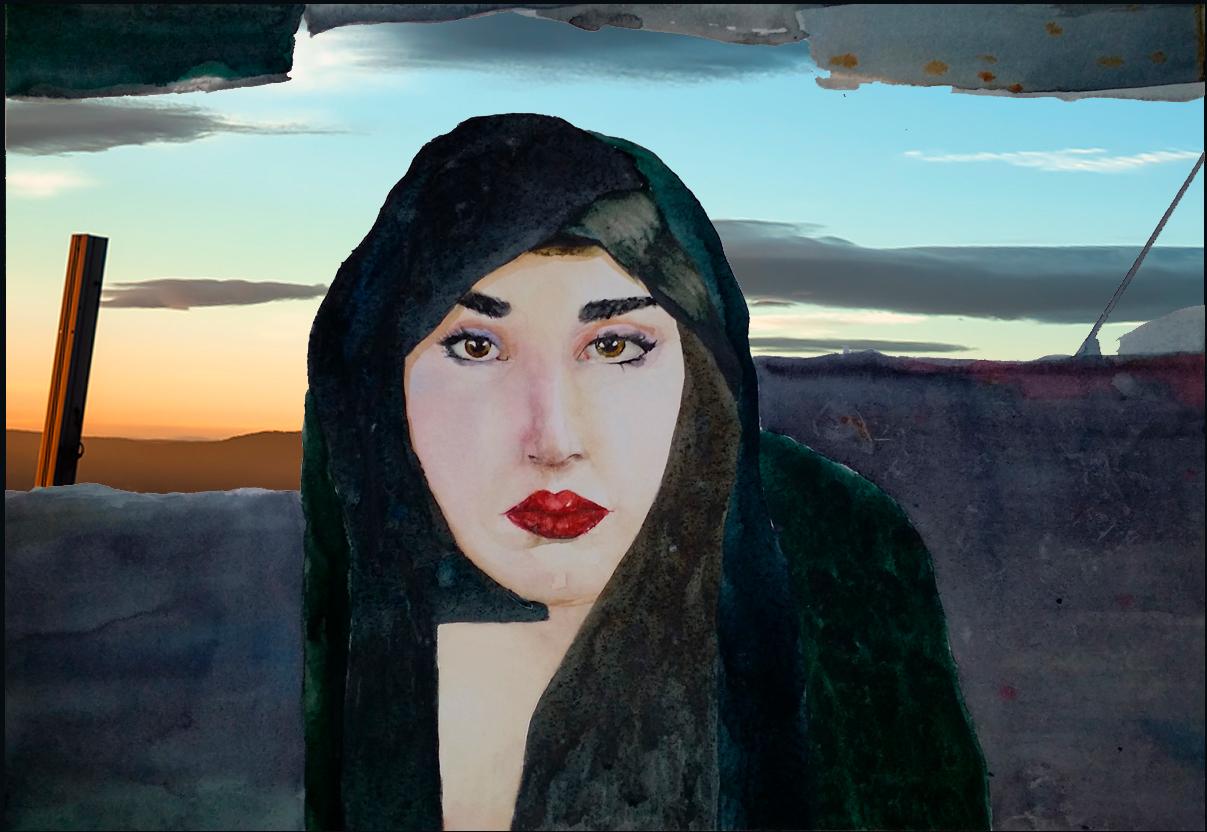 Hijab-bildet - jeg har stått fast. Ill. Kristin Bruun
