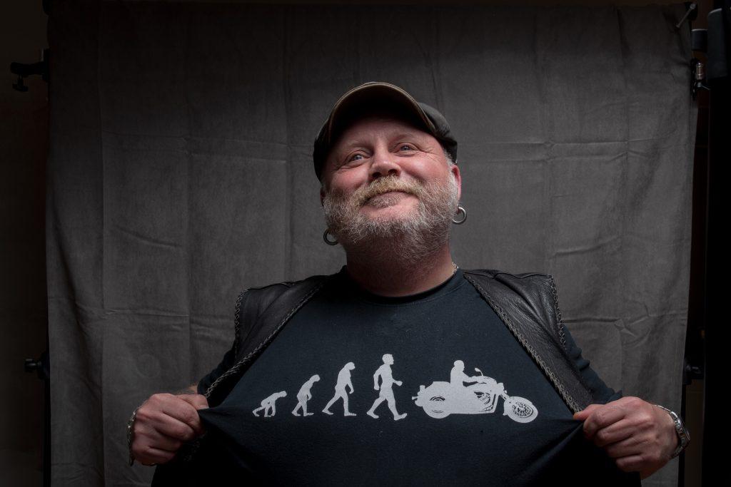 Biffen om evolusjonsteorier. Foto: Kristin B. Bruun