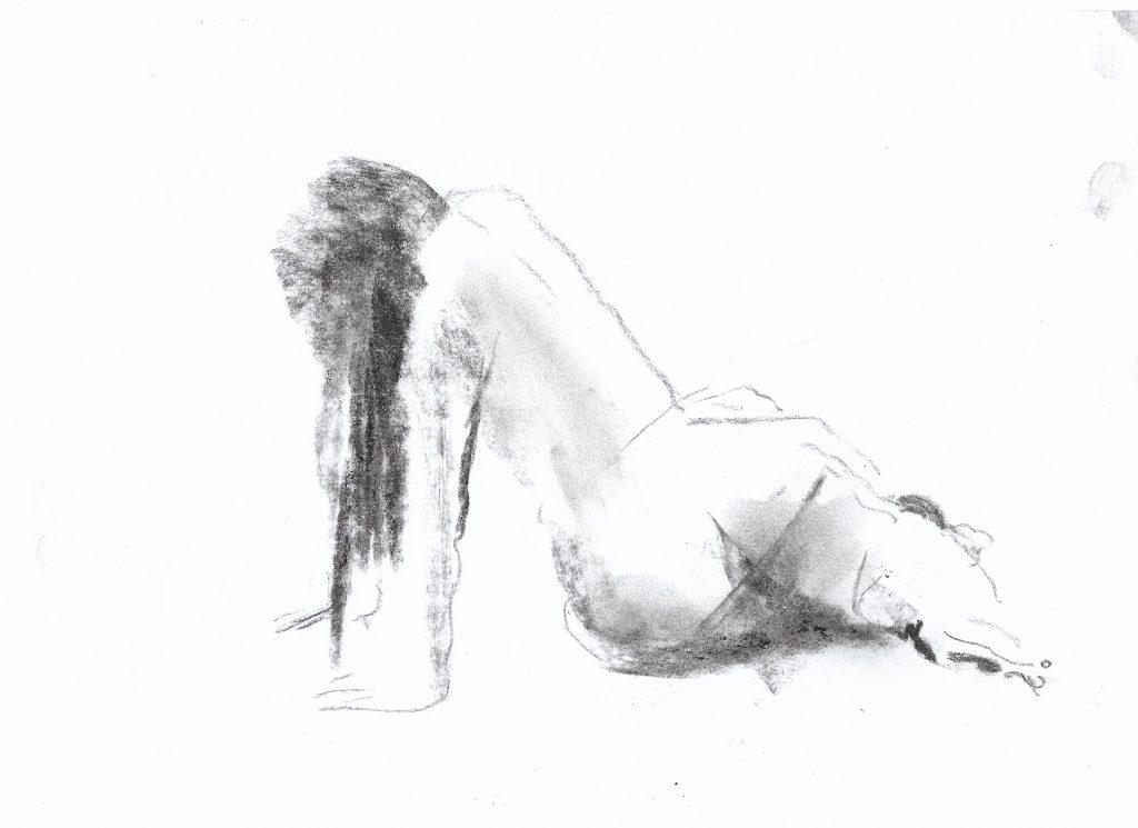 Croquis Morten Krogvold - workshop. Tegning: Kristin B. Bruun