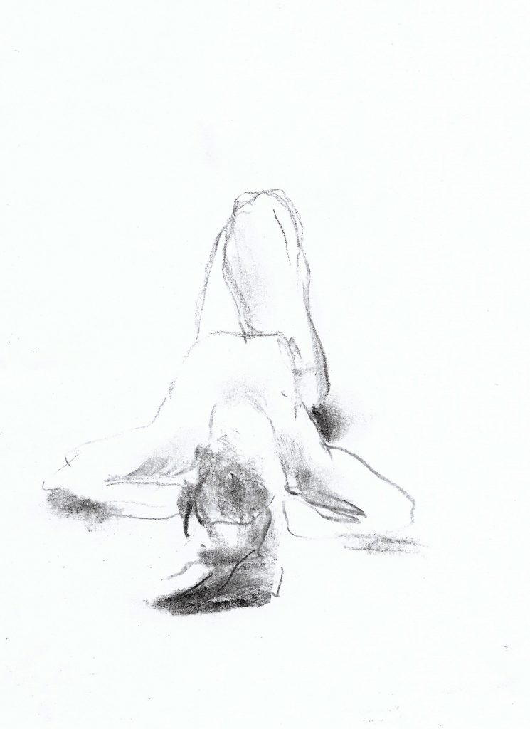 Croquis med Morten Krogvold. Tegning: K.B. Bruun
