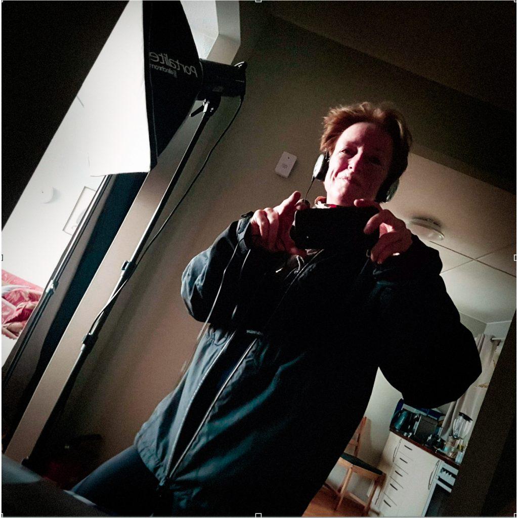 selfie med øreklokker
