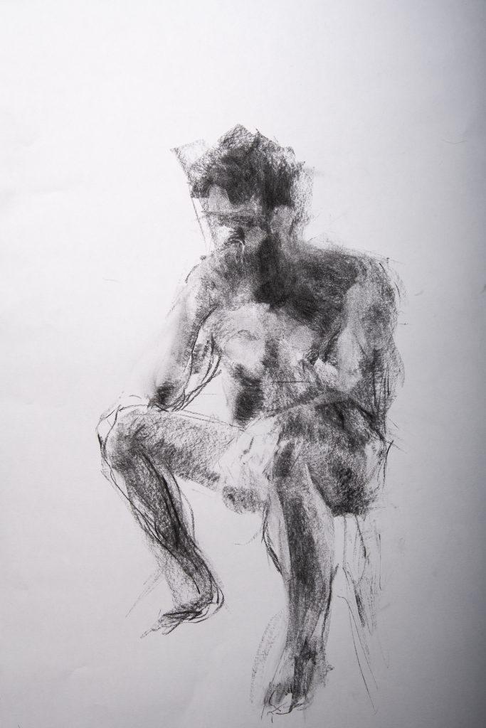 Tegning: Kristin B. Bruun. Modell: A. Drivenes