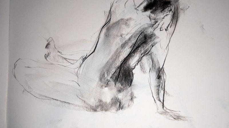 Croquis - ett minutts stillinge - tegning Kristin B. Bruun