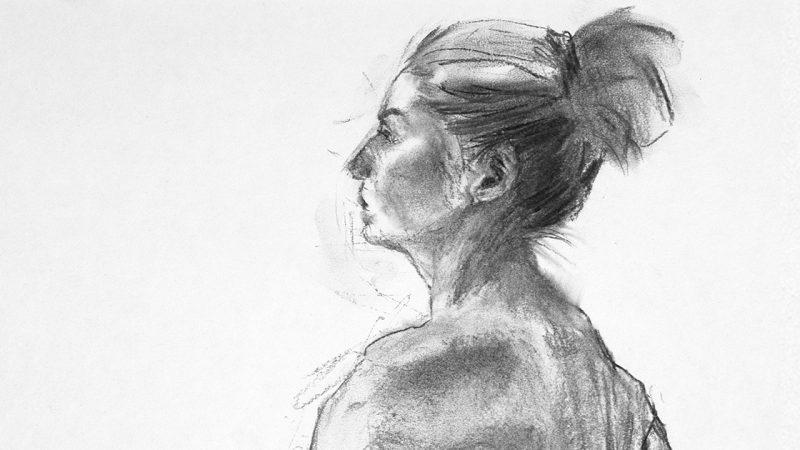 Croquis - ansiktsstudie. Ill. Kristin Bruun